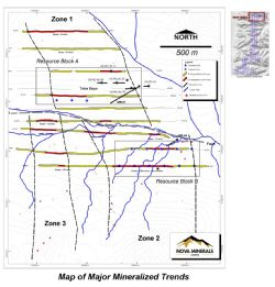 Map of Major Mineralised Trends