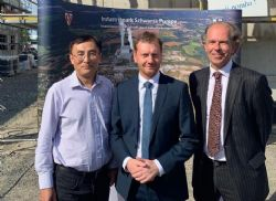 Dr Jingyuan Liu (ATC General Manager Operations), Mr Michael Kretschmer (Minister-President of Saxony) & Jens Willenbockel (ATC Consultant)