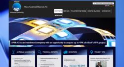 Altech Advanced Materials AG: German web site