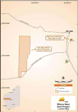 Wiluna West Gold Project location 40km west of Wiluna