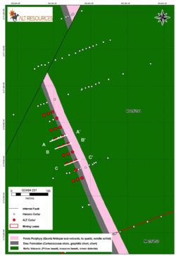 North VB RC drill hole plan view