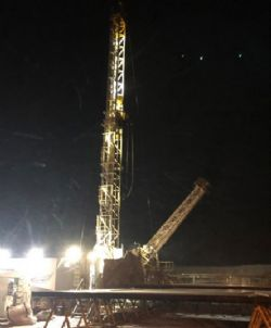 CapStar #311 drilling ahead during snowstorm