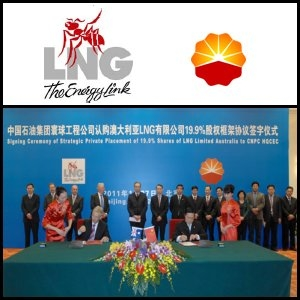 Australischer Marktbericht, 28. Januar 2011: Liquefied Natural Gas Limited (ASX:LNG) geht strategische Partnerschaft mit China China Huanqiu Contracting And Engineering Corporation ein