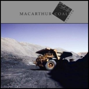 Macarthur Coal (ASX:MCC) said coal sales have recovered following the global financial crisis, with steel production increasing. The company also has confirmed plans to double production during the next five years. Its traditional customers had resumed buying contracted volumes and were seeking more coal.