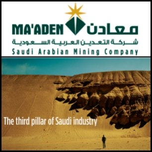 Saudi Arabian Mining Company (SAU:1211) sent WorleyParsons (ASX:WOR) JV an LOI for engineering, procurement and construction management services for the development of a major new world class bauxite mine and alumina refinery in Saudi Arabia.