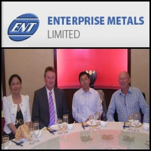 Asian Activities Report for April 28, 2011: Sinotech To Invest A$12.4 Million In Enterprise Metals Limited (ASX:ENT)