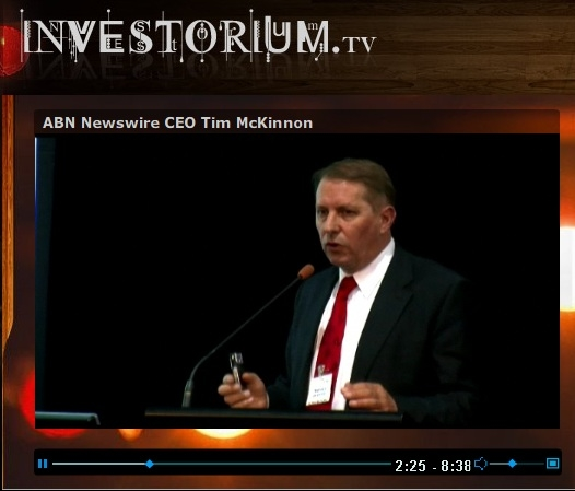 CEO Darin Wagner at Investorium.tv Live Webcast in Vancouver