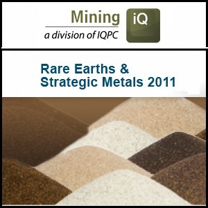 Rare Earths Sector Gathers to Decide Industry Direction At Mining IQ Rare Earths and Strategic Metals Conference