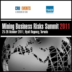 Goldcorp (TSE:G) to Sponsor Mining Business Risks Summit, Canada, 25-26 October 2011