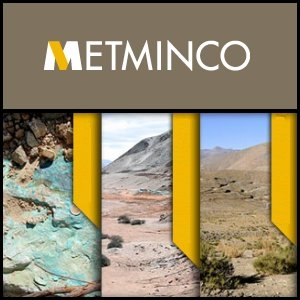 Asian Activities Report for August 22, 2011: Metminco (ASX:MNC) Confirms Significant Mineralization at Los Calatos Copper/Molybdenum Project