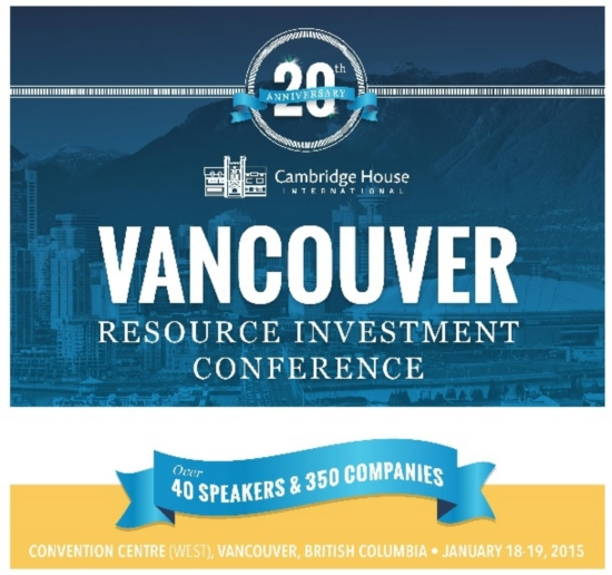 Vancouver Resources Investment Conference: January 18th and 19th at the Vancouver Convention Centre West