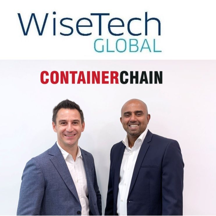 Photo of Containerchain's Chris Collins and Tony Paldano