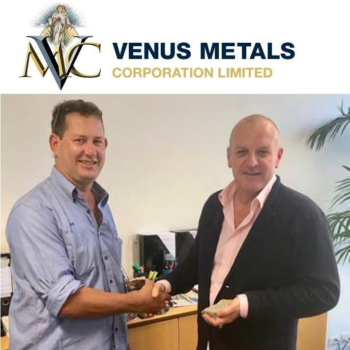 Doug Taylor with Venus Metals MD Matthew Hogan