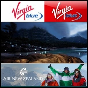 제휴 협상 중인 Virgin Blue (ASX:VBA)와 Air NZ (NZE:AIR)